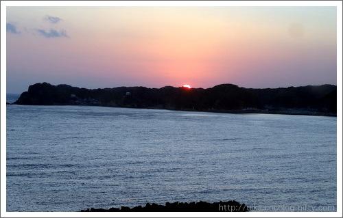 sunset over the Katsuura